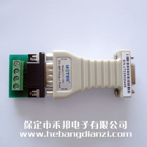 rs-232与rs-485信号相互转换,rs-232端db9孔型连接器,rs-485端db9针型